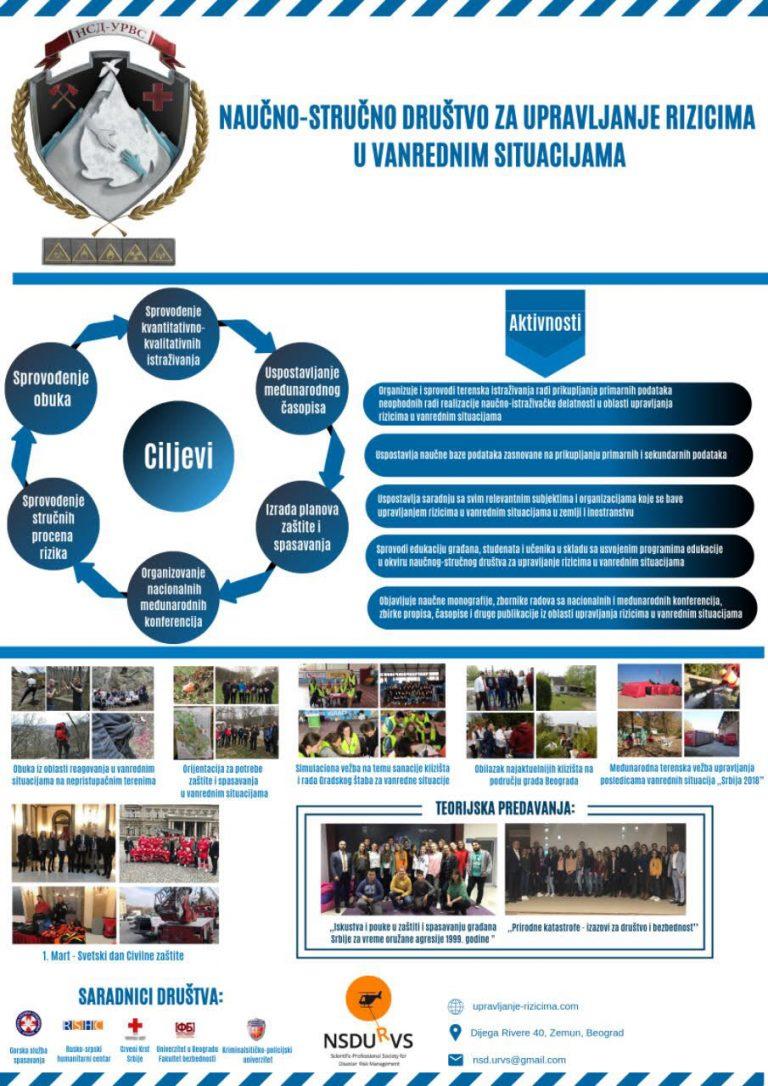 Poster Naučno-stručnog društva za upravljanje rizicima u vanrednim situacijama