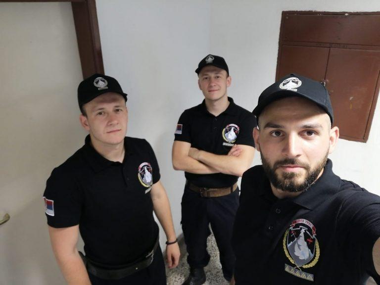 Pripadnici prvog voda jedinice civilne zaštite (JCZ – NSDR-URVS)