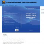 Elektronski sistem za slanje radova u međunarodnom časopisu – International Journal of Disaster Risk Management