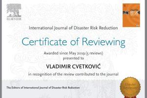 Medjunarodno priznati recenzenti u okviru studija katastrofa