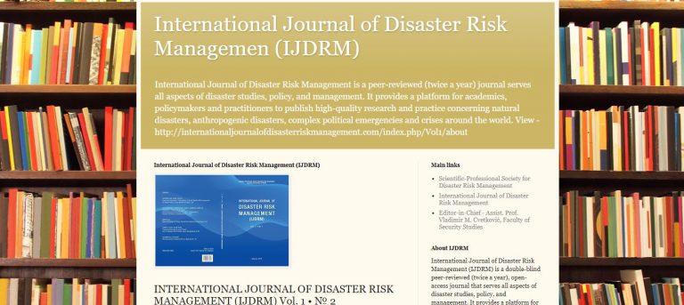 Novi blog o našem međunarodnom časopisu IJDRM